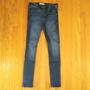 Hollister Classic Blue Skinny Jeans Sz 3R 26/31